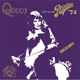 クイーン - QUEEN LIVE AT THE RAINBOW '74 LOGO BLACK T-SHIRT S