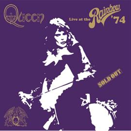 クイーン - QUEEN LIVE AT THE RAINBOW '74 LOGO BLACK T-SHIRT M
