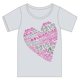 4Minute - HEART TO HEART Tシャツ グレー