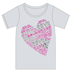 HEART TO HEART Tシャツ グレー