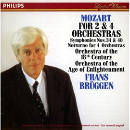 フランス・ブリュッヘン - モーツァルト/交響曲第40・34番