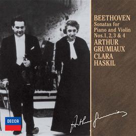 アルテュール・グリュミオー - ベートーヴェン:ヴァイオリン・ソナタ第1番~4番(モノラル録音)