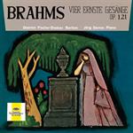 ディートリヒ・フィッシャー=ディースカウ - ブラームス歌曲集 ~4つの厳粛な歌