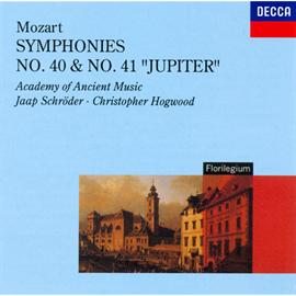 クリストファー・ホグウッド指揮/エンシェント室内管弦楽団 - モーツァルト:交響曲第40番&第41番《ジュピター》
