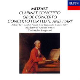 クリストファー・ホグウッド指揮/エンシェント室内管弦楽団 - モーツァルト:クラリネット協奏曲、フルート&ハープ協奏曲、他