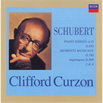 シューベルト:ピアノ・ソナタ第17番、楽興の時、他
