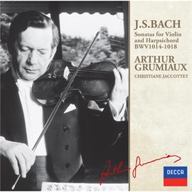 アルテュール・グリュミオー - J.S.バッハ:ヴァイオリン・ソナタ集VOL.1