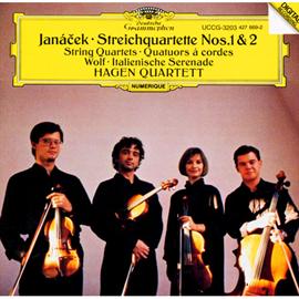 ハーゲン弦楽四重奏団 - ヤナーチェク:弦楽四重奏曲第1・2番、ヴォルフ:イタリア風セレナーデ